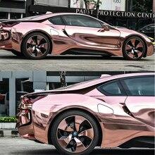50x200 см, розовое золото, хром, виниловая пленка, гибкая Хромированная пленка для кузова автомобиля, фольга, автомобильная наклейка без пузырей