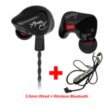Original KZ Limited Version Sport Wireless Bluetooth Earphone Adapter Cable Phone HiFi Wired with Mic Dynamic
