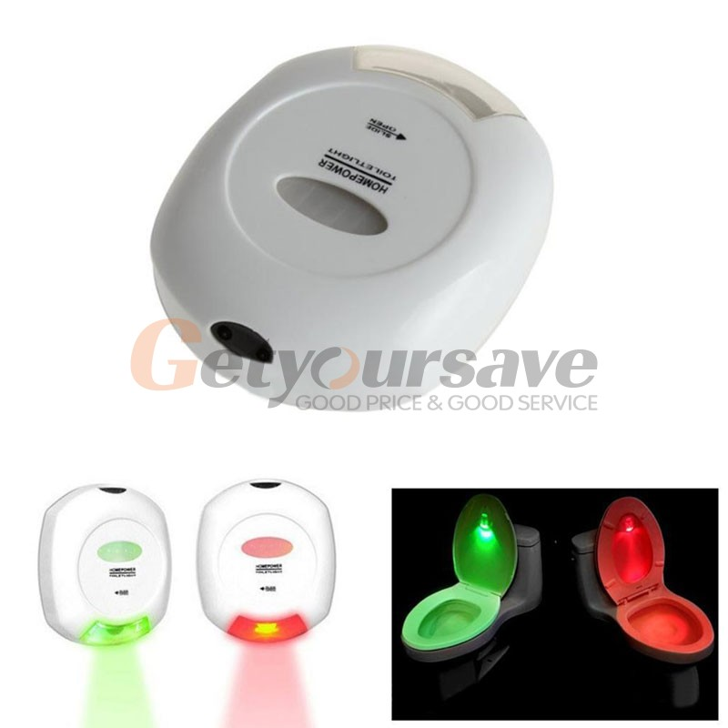 New Fashion LED Sensor Motion Activated Toilet Light Bathroom Flush Toilet Lamp Battery-Operated Night Light