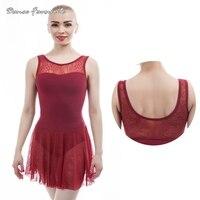 Adult Ballet Dance Leotard One Piece Dress Female Tank Sleeve Ballet Tutu Dress For Ballet Dancer