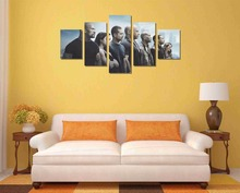 Free shipping 5 Pieces(No Frame) Fast & Furious 7 Movie Decor Prints Realistic Oil Painting Printed On CANVAS 2944
