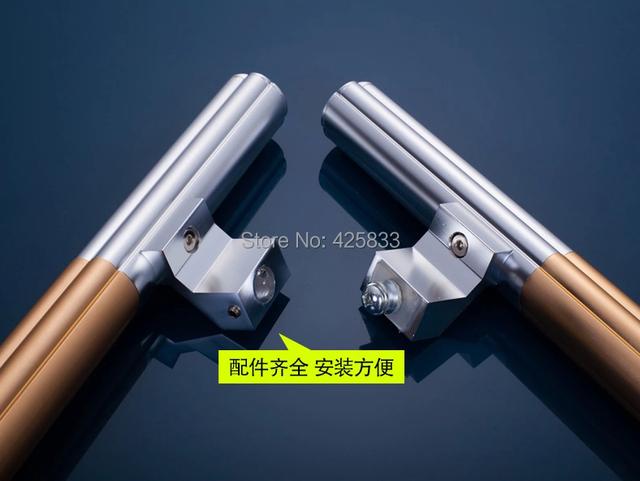 500mm de Aleación de Aluminio de Puertas y Manijas de Vidrio Grande Hardware Del Gabinete Del Cajón Perilla Tire Tirones