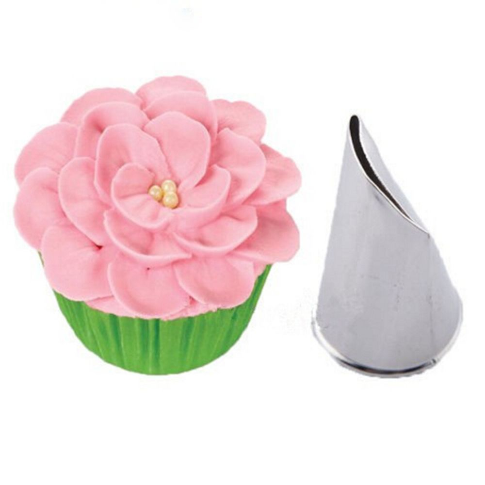 5PC Rose Petal Cream Nozzle Cake Tool Stainless steel Icing Piping Tip Spiral Pastry Fondant Baking Decorating Tools Multi-Style
