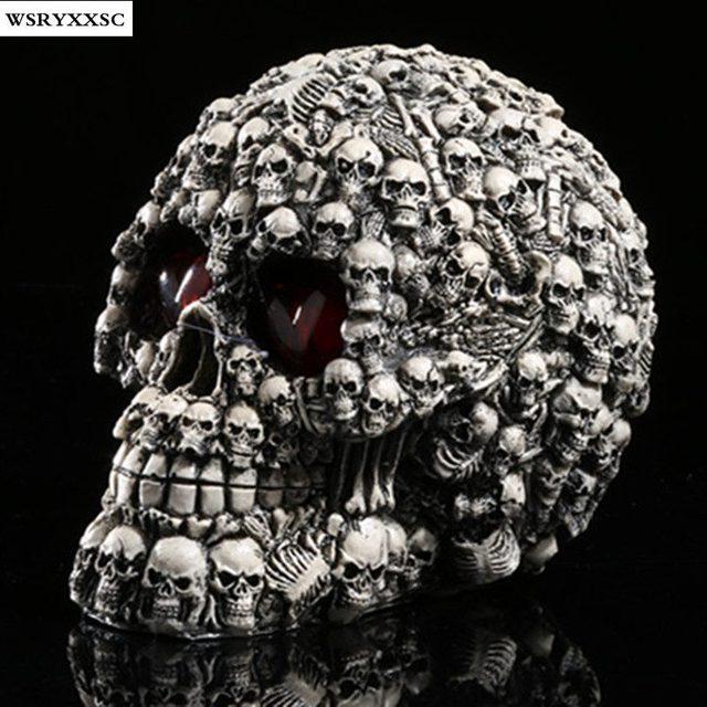 LED Light Skull Handicrafts,Resin Skulls, Personalized Ornaments, Creative Home  Decorations
