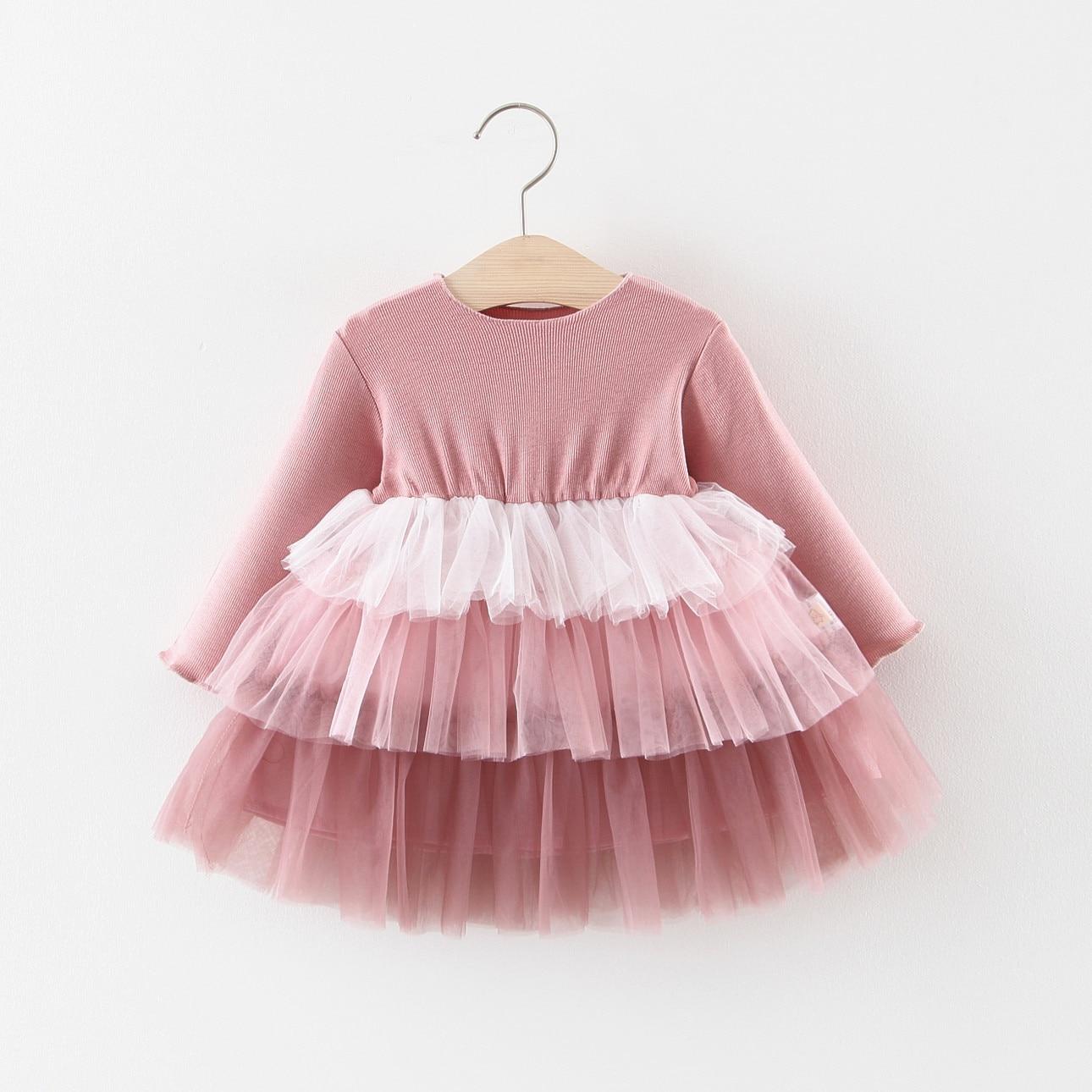 Party Dress Girls Clothing Long-Sleeve Cotton Fashion Children
