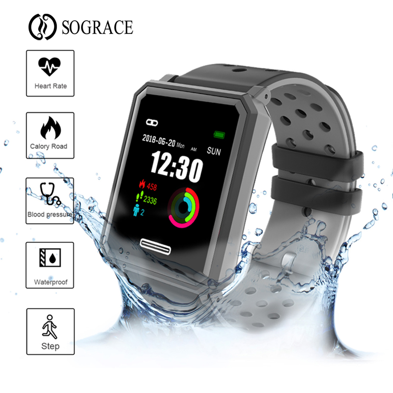 New Smart Wristband Color Screen Bracelet PPG Heart Rate Monitor Health Fitness Tracker Smart Band For IOS PK Xiaomi Mi Band 3