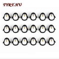 TRYR.HU 50pcs Silicone Beads Penguin Cartoon Cute DIY Baby Teething Chew Bracelet Pendant Food Grade BPA Free Silicone Teether