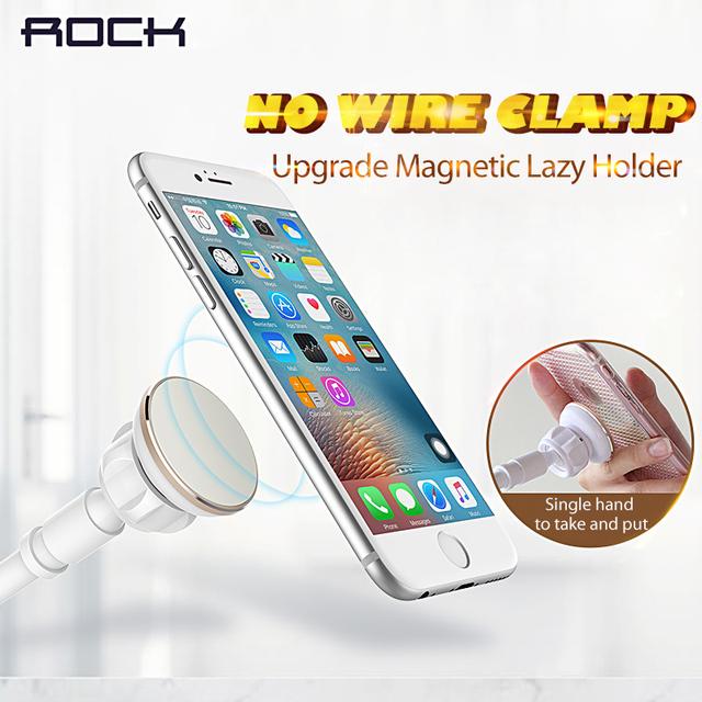 Rock magnética soporte para teléfono y soporte de la tableta flexible de cuello de cisne brazo de montaje para móviles tablets para iphone/ipad/ipad mini