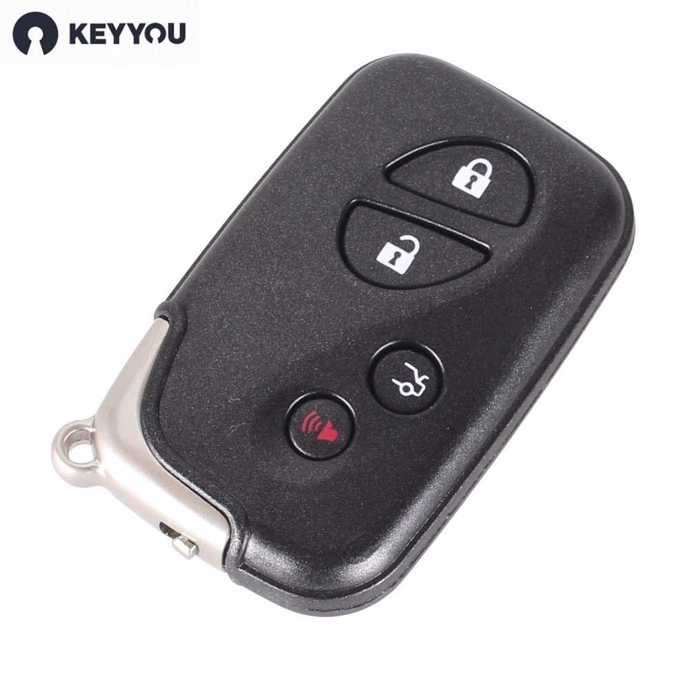 KEYYOU Replacement Shell 4 Buttons Smart Remote Key Fob