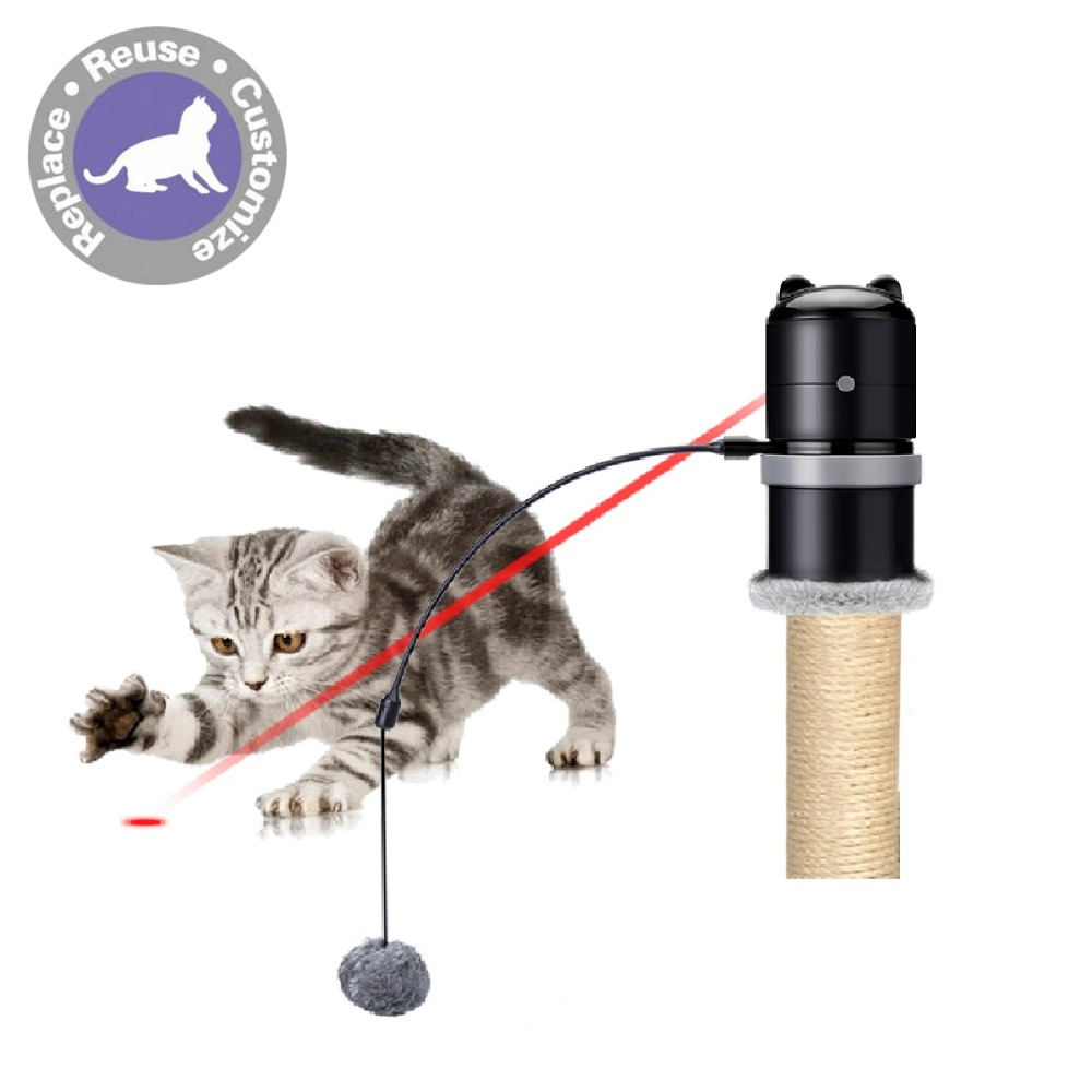 Electronic Creative Funny Pet Cat Toys Led Exercise Laser Topper Scratching Post Feather Wand Portable Puppy In From Home