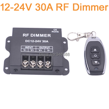 DC12-24V 30A Single Channel LED Dimmer Controller with 3Key Wirelss RF Remote Control for Single Color LED Striplight