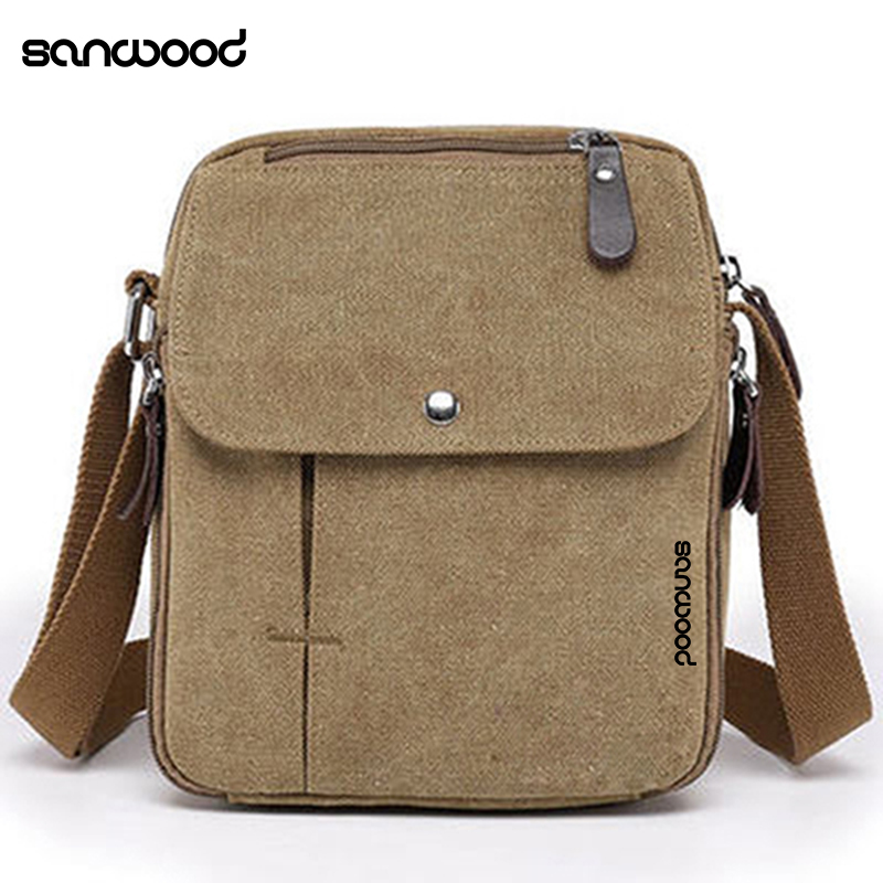 Vintage Canvas Multifunction Messenger Shoulder Bag Travel Satchel Crossbody Bag Designers Vintage Mens Bags