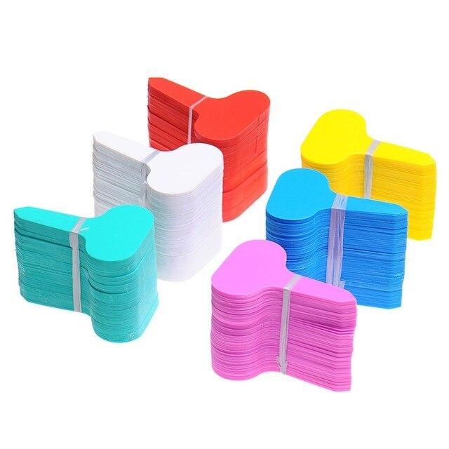 100 Pz Giardino Pianta Etichette di Plastica Impianto di tipo T Tags Marcatori V