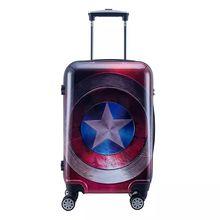 20/24 дюйма cool Аниме Капитан Америка мальчик тележка Чехол путешествия чемодан железный человек мультфильм прокатки костюм чехол бизнес чемодан