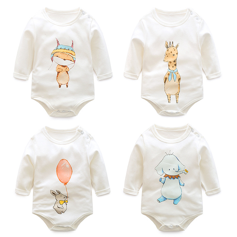 2017 New spring autumn Babies Romper Baby Boys Clothes Long Sleeve Cartoon Print Romper Newborn Jumpsuits Infant Clothing cotton baby rompers set newborn clothes baby clothing boys girls cartoon jumpsuits long sleeve overalls coveralls autumn winter