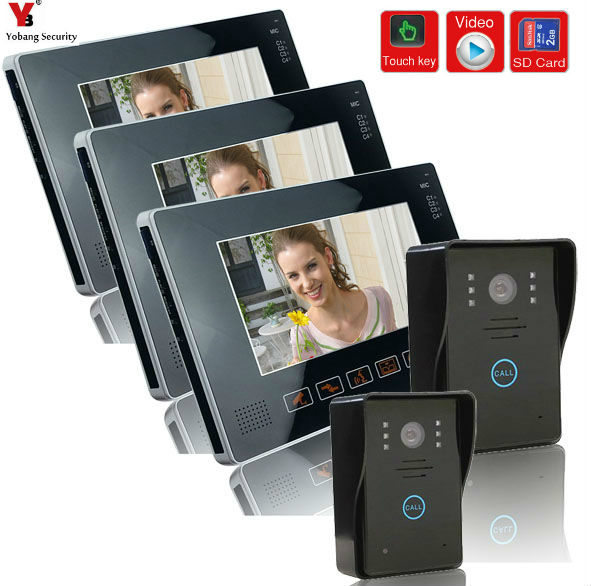 YobangSecurity 9 Inches Wired Video Doorbell Door Chime,Rainproof Door Phone with Video Recording and PhotoTaking Function