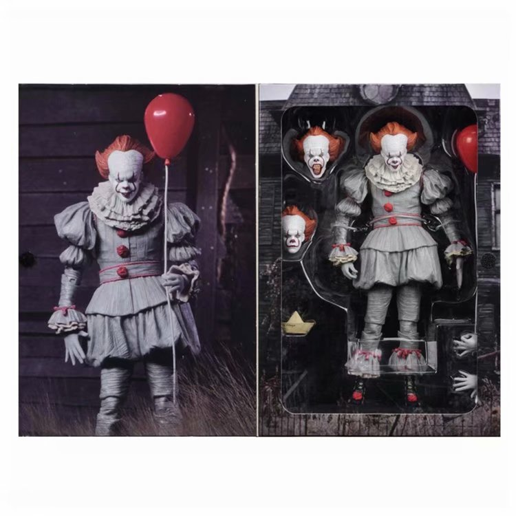 Stephen King's It NECA Pennywise Joker New PVC Action Figure Collectible Model Toy 18CM neca dc comics batman superman the joker pvc action figure collectible toy 7 18cm 3 styles