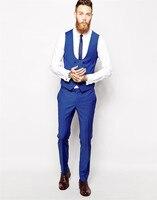 Men Suits Custom Made Royal Blue 3 Piece Men Silm Fits Suits Wedding Suits Tuxedos Men