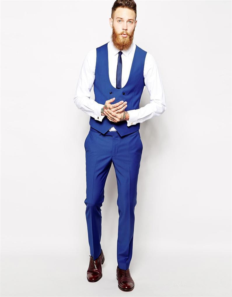 Images of Mens Royal Blue Suit - Klarosa