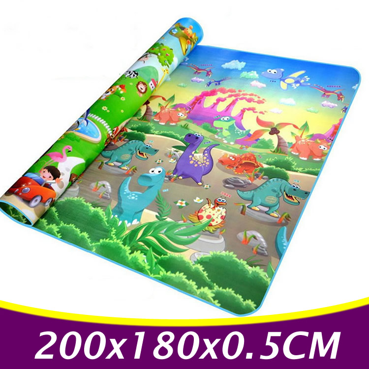 200x180cm Double Side Baby Play Mats Baby Crawling Mat