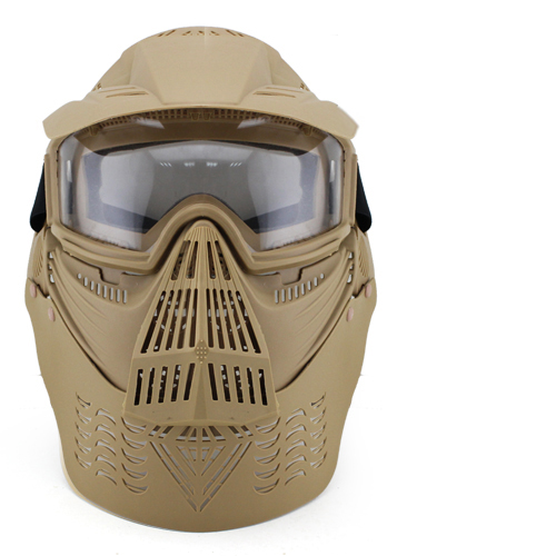 Outdoor CS Wargame Mask Tactical Full Face Airsoft Paintball CS Equipment Halloween Cosplay Horror Gost Hunting Masks w/ Goggle