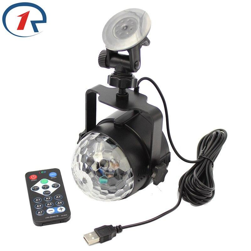 ZjRight IR Remote Magic Rotating Stage Light USB 5V Musikstyrning - Kommersiell belysning - Foto 4