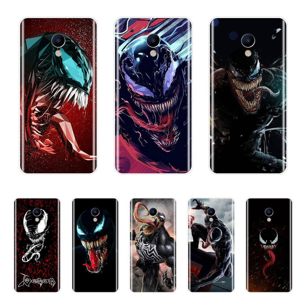Marvel SuperHero Venom Phone Case For <font><b>Meizu</b></font> M2 M3 M5 M6 Note Soft Silicone <font><b>Back</b></font> <font><b>Cover</b></font> For <font><b>Meizu</b></font> M6 M6S M6T M5 M5C M5S <font><b>M3S</b></font> Case image