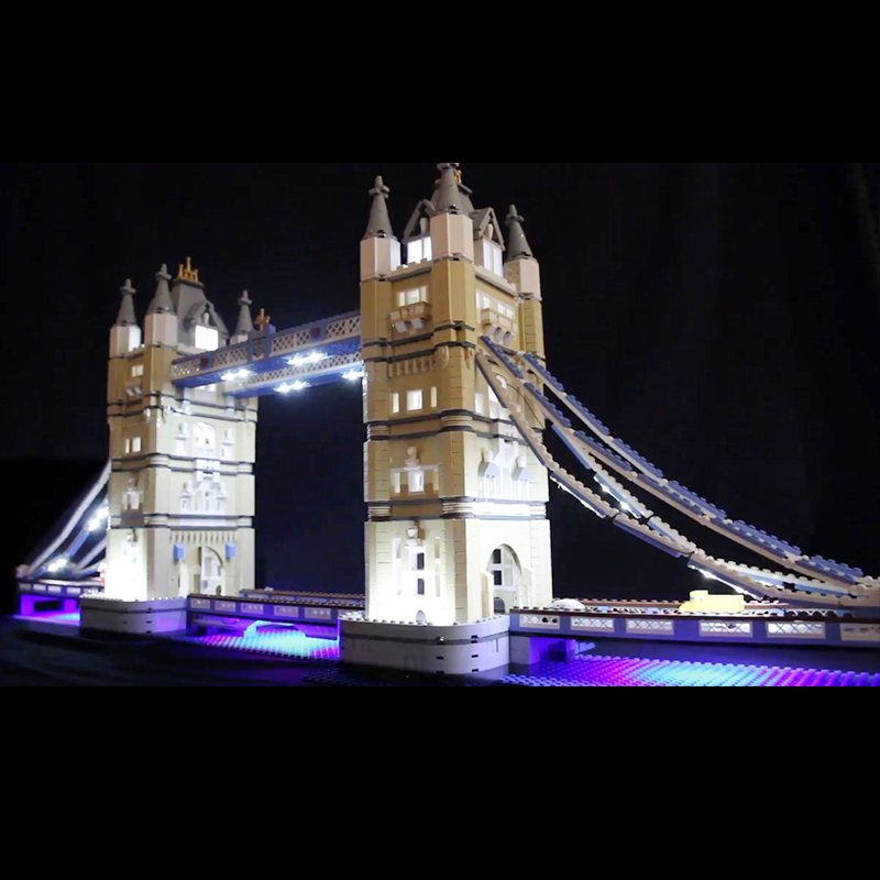 Lego 10214 LED Light Kit London Bridge Building Brickkits(only light with Battery box)