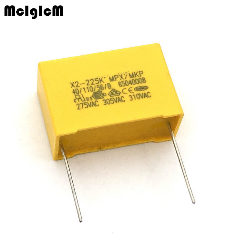 10pcs P=15mm 275V224K 220nF Polyproplene Safety Capacitor
