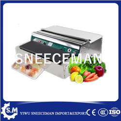 factory produced food packaging machine cling film wrapping machine