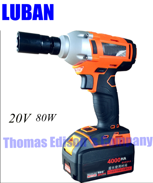 electric wrench lithium rechargeable impact wrench scaffolders air machine installation tool 10 electric battery 6000HA 1 charge