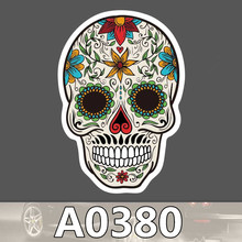 10pcs Kids Toy Sticker Colorful Horror Skull Stickers Funny Stickers For Kids Cartoon Home Decor Laptop
