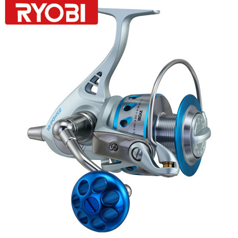 100% RYOBI Big Spinning Fishing Reel Full Metal CARNELIN18000 BB 10+2 Trolling Reel Olta Moulinet Peche Molinete Pesca Carp Reel trulinoya distant wheel 7 1bb 4 9 1 full metal jig ocean boat sea trolling reel carretes pesca spinning fishing reel molinete