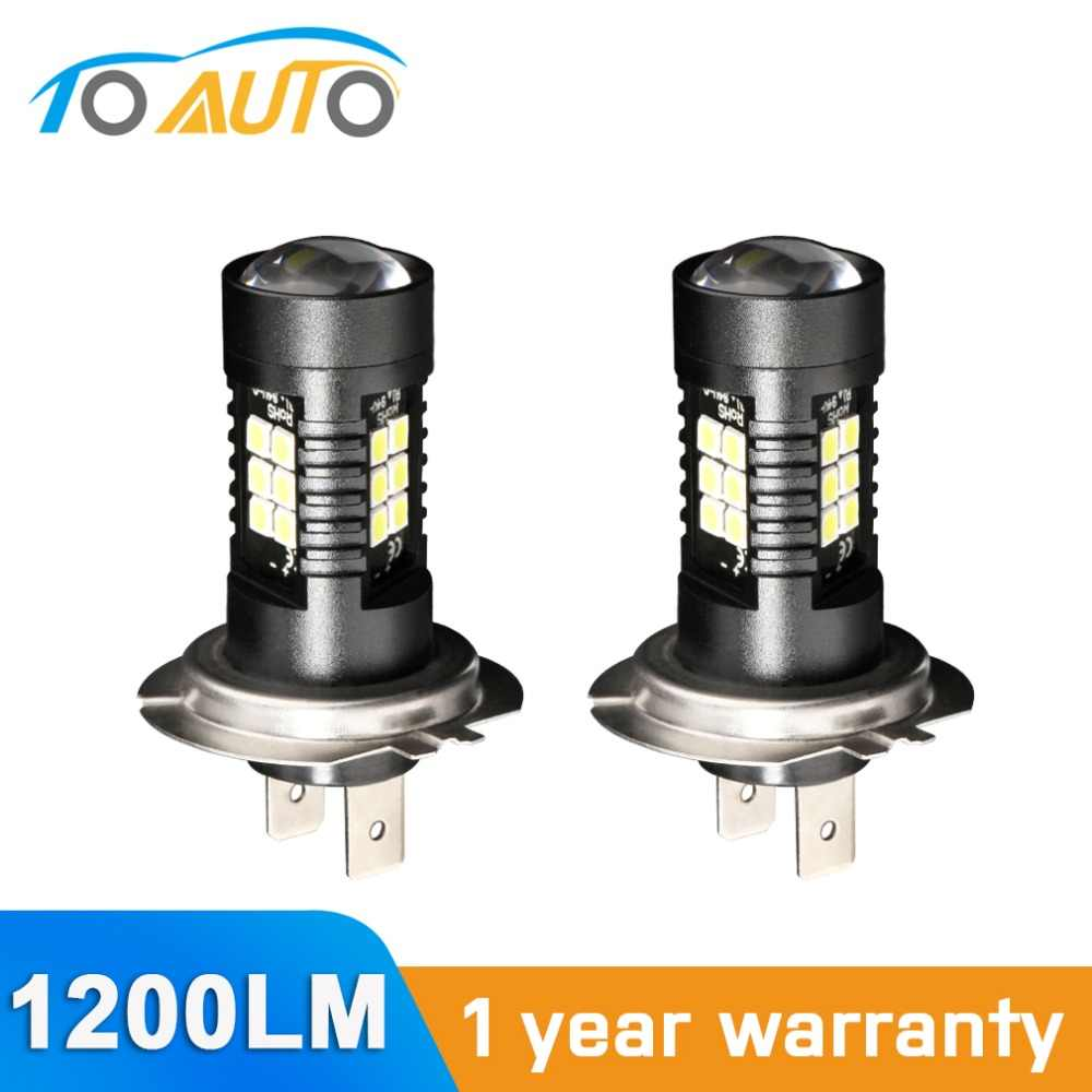 2pcs H7 LED Car Lights 21 SMD 3030 Chip 6000k 1200LM Auto Lamp 12V