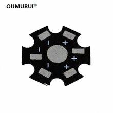 Plaque de Base en aluminium pour dissipateur de chaleur LED haute puissance, 1W 3W 5W, 100 pièces/lot, livraison gratuite