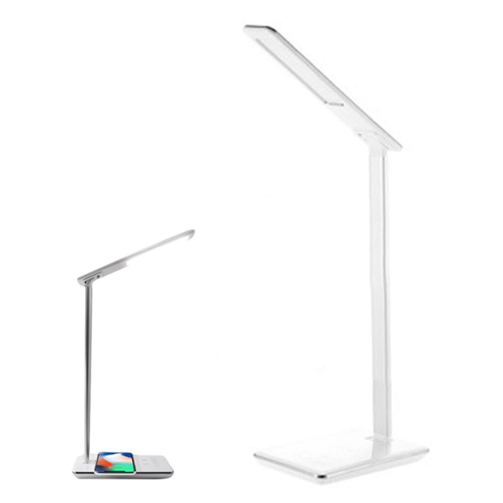 5 W Qi chargeur sans fil sans fil USB sortie chargeur avec bureau pliant Protection des yeux tactile Induction bureau lumière LED