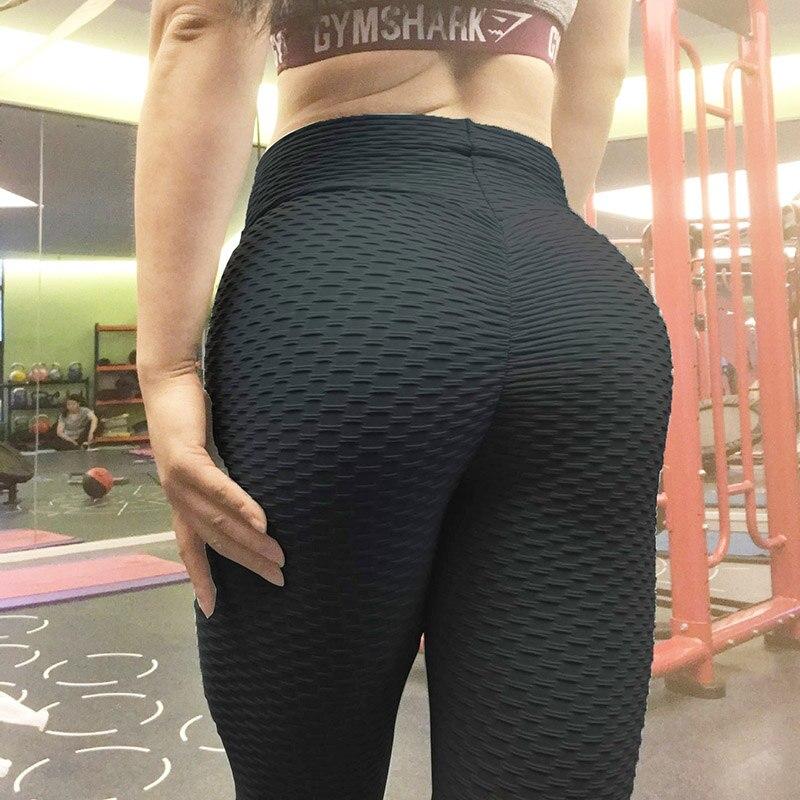 Rooftrellen Black Leggings Women Polyester Ankle-Length Standard Fold Pants Elasticity Keep Slim Push Up Fitness Female Legging Лосины