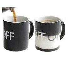 Amazing Ceramic Cup OFF AUF Farbwechsel Becher Tasse Keramik Handgriff Temperatur Farbwechsel Magische Kaffeetasse Geschenk Für Freunde