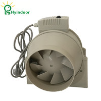 Hydroponic 6 Inches 23V Two Speed Control Axial Flow Plastic Ventilation Duct Exhaust Blower Fan