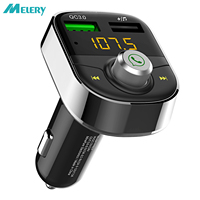 Wireless Bluetooth FM Transmitter Radio Adapter Fast Quick Charge 3.0 USB Car Charger Hands Free Calls for Car,iPhone,Samsung