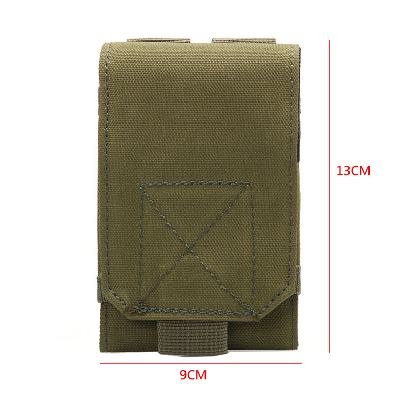 Camouflage Bag Tactical Holster MOLLE Army Hook Loop Belt Pouch Holster Cover Case For Mobile Phone Outdoor Equipment in Climbing Bags from Sports Entertainment