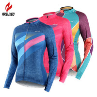 2019 Spring Summer Cycling Jersey Women Long Sleeve Breathable Quick Dry Road Mountain Bike MTB Jerseys Women's Cycling Clothing