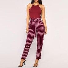 Women Stripe Slim Pants EL01