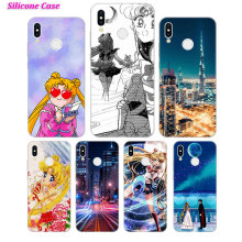 Silicone Case Sailor moon scence for Huawei P Smart 2019 Plus P30 P20 P10 P9 P8 Lite Mate 20 10 Pro Lite Nova 3i Cover купить недорого в Москве