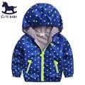2016 Niños del Otoño Chaquetas niños abrigos niños ropa de abrigo chaquetas para niños Fina capa del bebé ropa de los muchachos para 2-6-7-8years