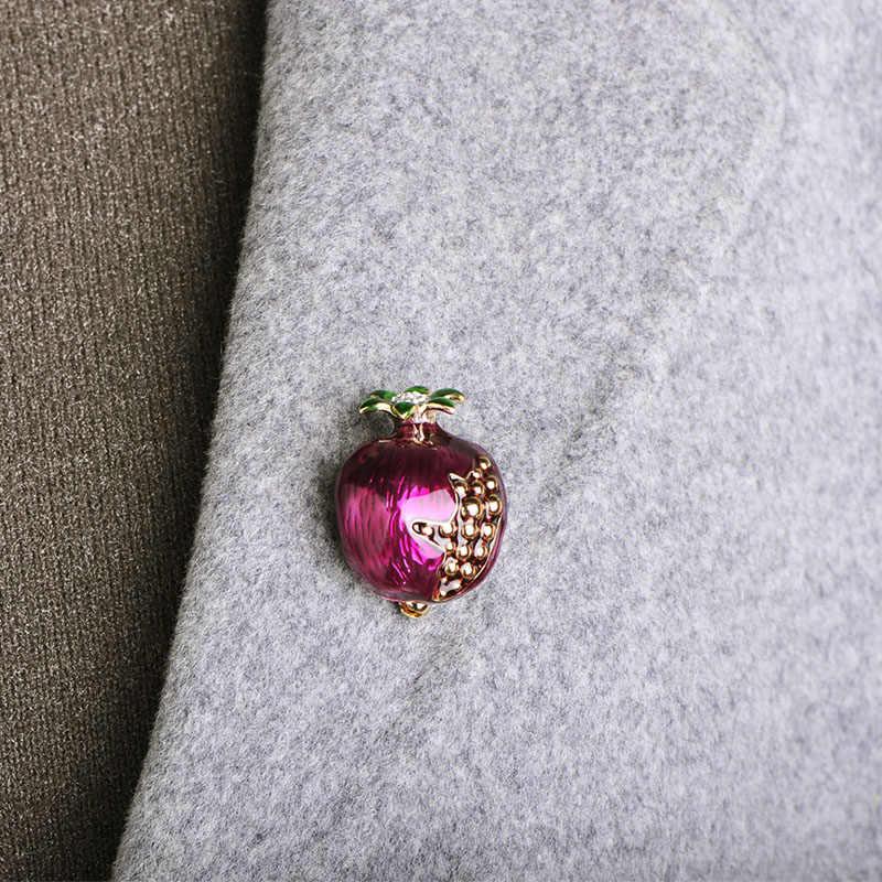 """Blucome мода эмали """"Гранат"""" Броши Кристалл Фрукты Брошь Jewelry Для женщин Детское пальто платье-мешок шляпные булавки вечерние аксессуар подарок"""