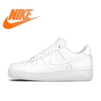purchase cheap 37a97 c29d6 Original oficial Nike AIR FORCE 1 AF1 transpirable hombres zapatos de skate zapatos  Low-top zapatillas de deportes plano clásico al aire libre zapatillas de ...