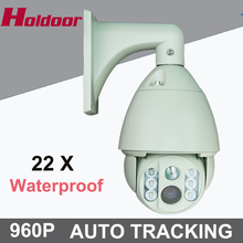 Auto Tracking CCTV 960P 1.3MP 22x Zoom auto tracking PTZ camera High Speed 100M ONVIF Network Ip PTZ Camera