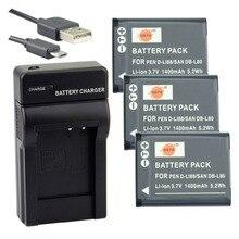 DSTE 3 шт. D-LI88/DB-L80 литий-ионная аккумуляторная батарея + UDC89 Зарядное устройство USB для Pentax Optio H90 P70 P80 W90 WS80