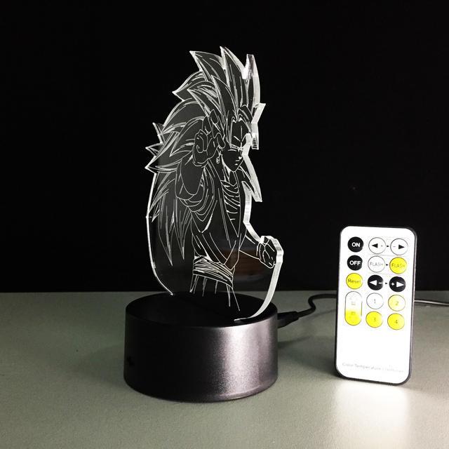 Dragon Ball Z Super Saiyan 3 Goku Table Lamp With Remote Control